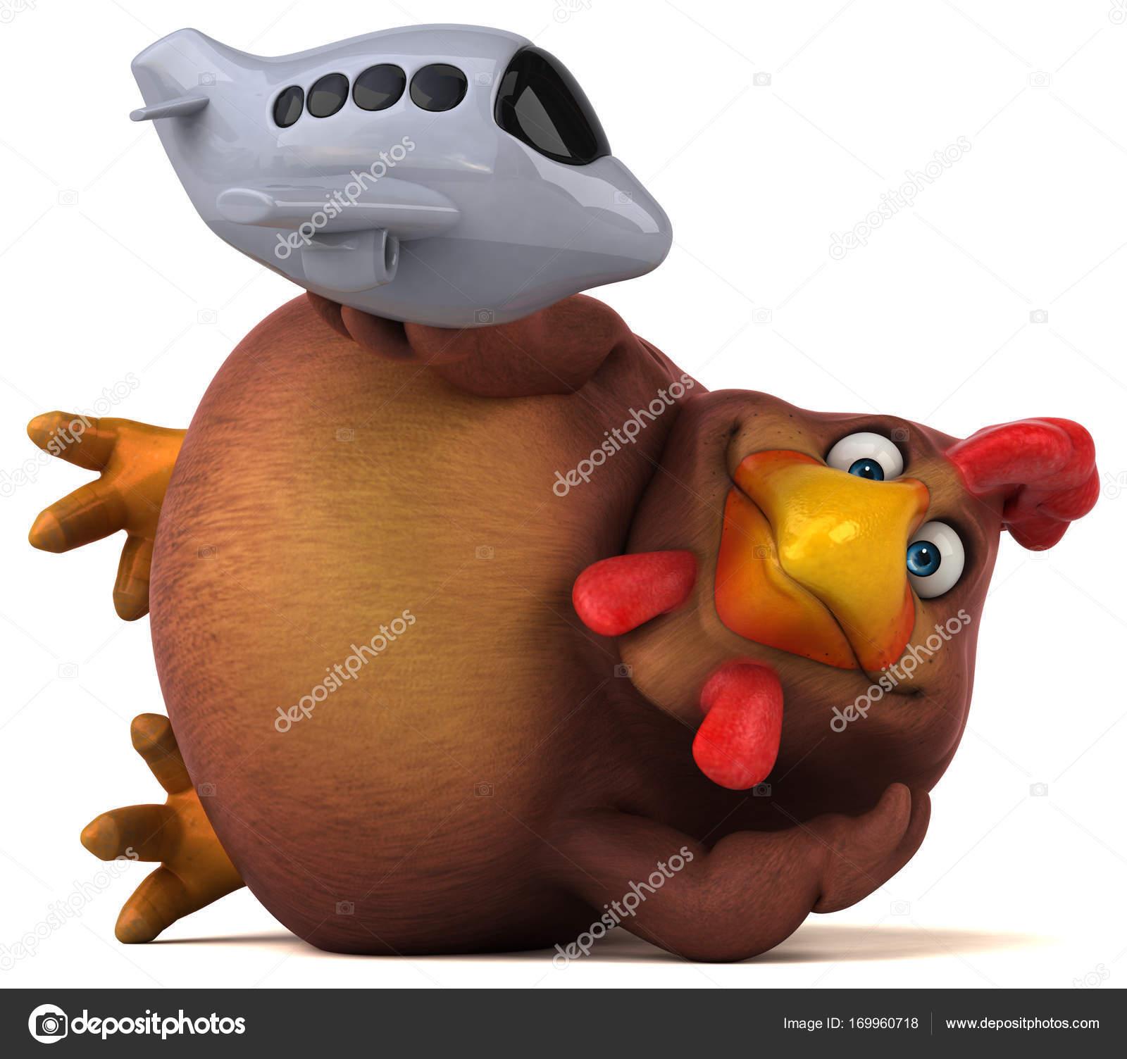 Personaggio dei cartoni animati con aereo u foto stock julos