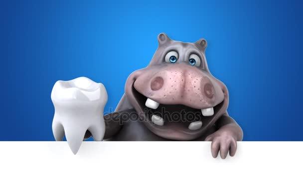 Personaggio dei cartoni animati divertimento con animazione dente