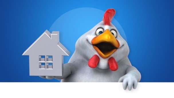 Pollo divertente personaggio dei cartoni animati con grafica