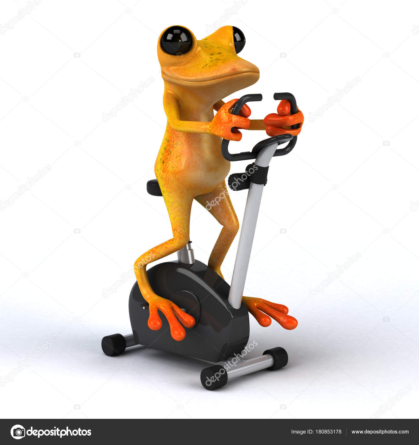 fun frog cycling illustration stock photo julos 180853178