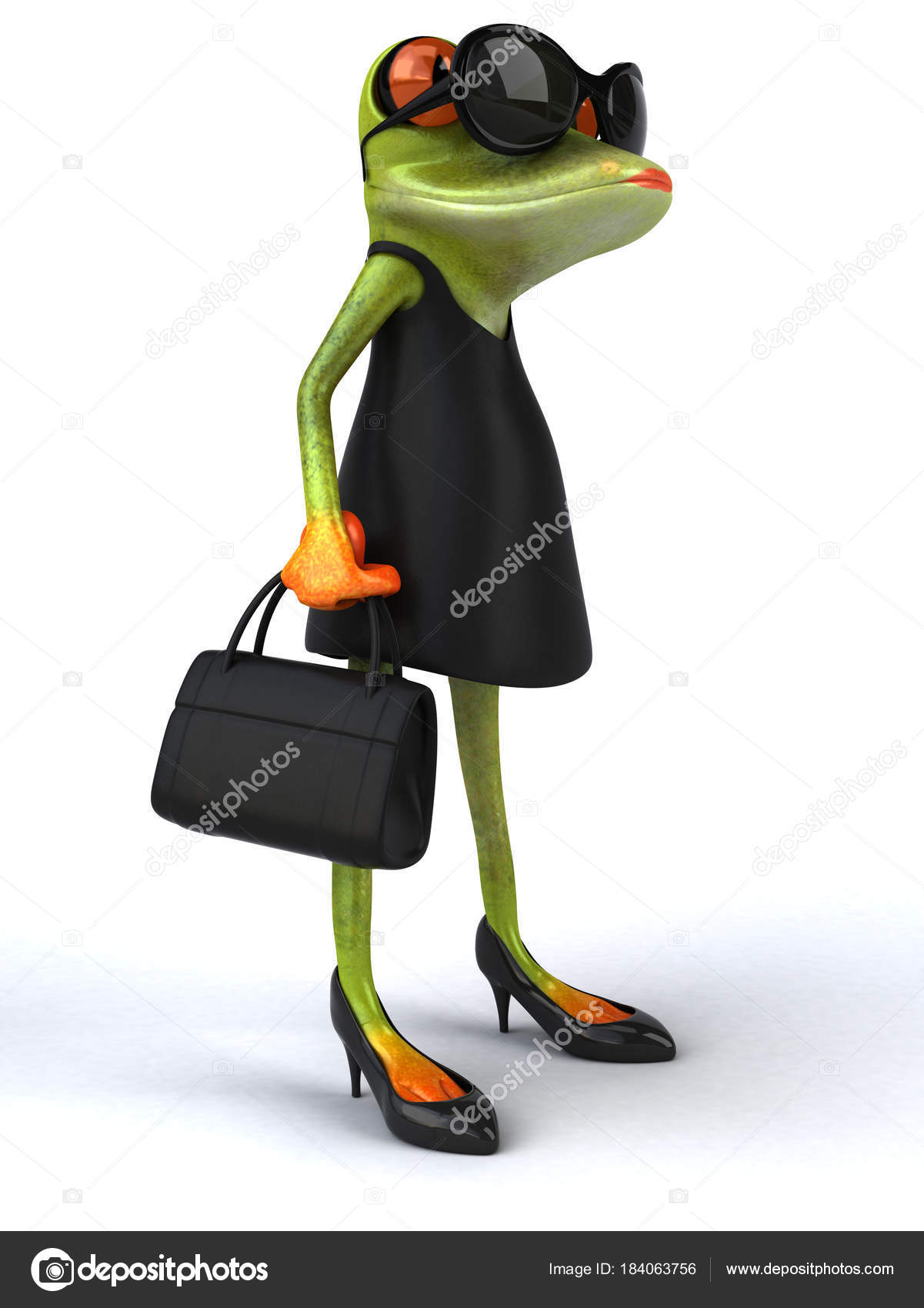 Lustige Frosch Charakter Illustration — Stockfoto © julos #184063756