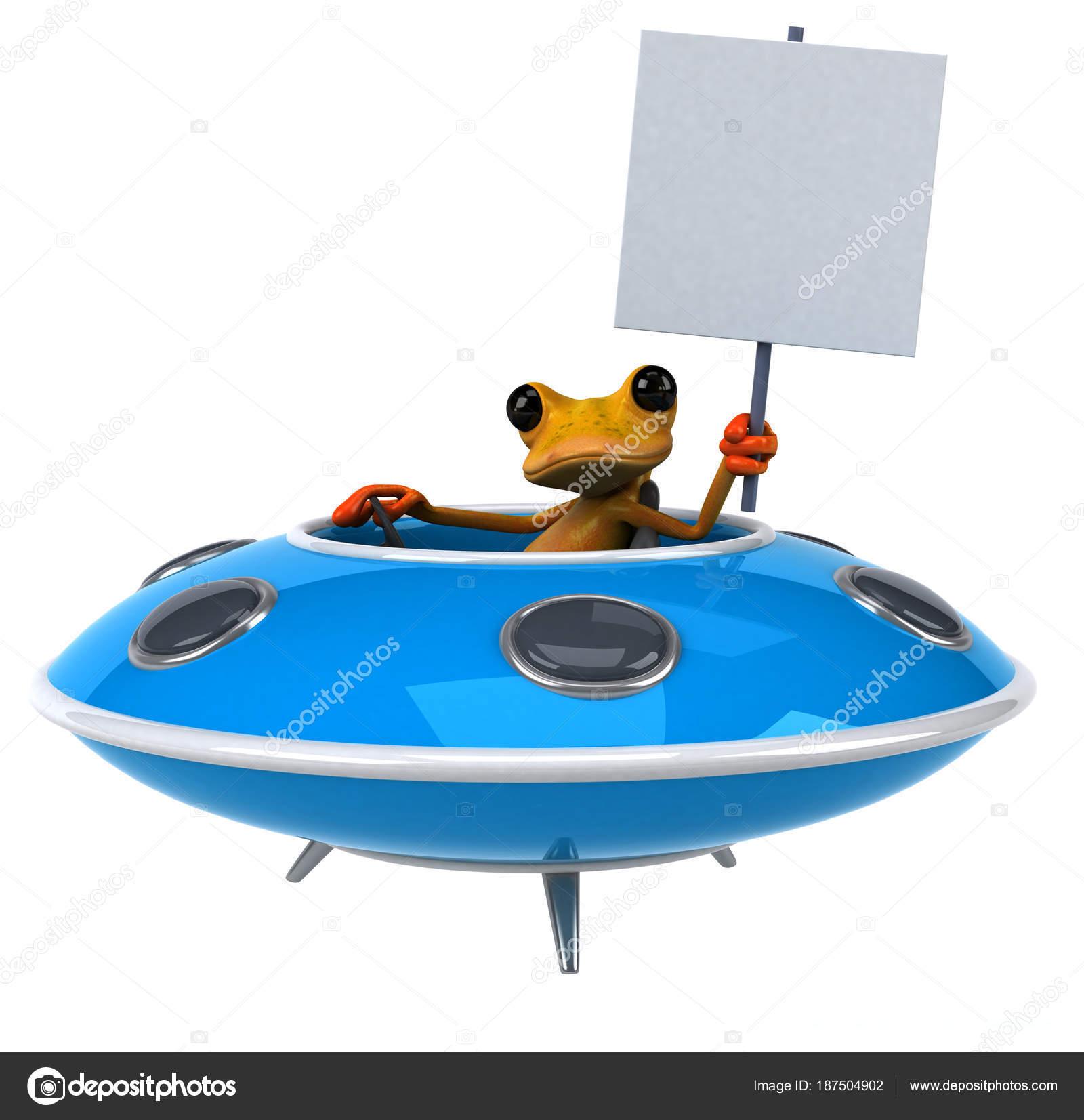 宇宙船 イラストで楽しいカエル ストック写真 Julos 187504902