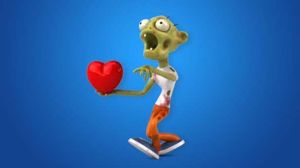 Zombie divertente personaggio dei cartoni animati con grafica