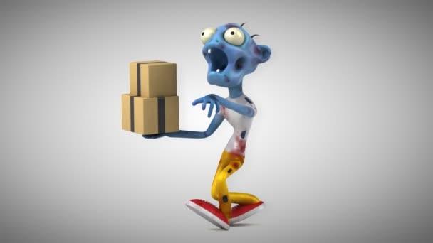 Zombie personaggio dei cartoni animati divertimento con animazione