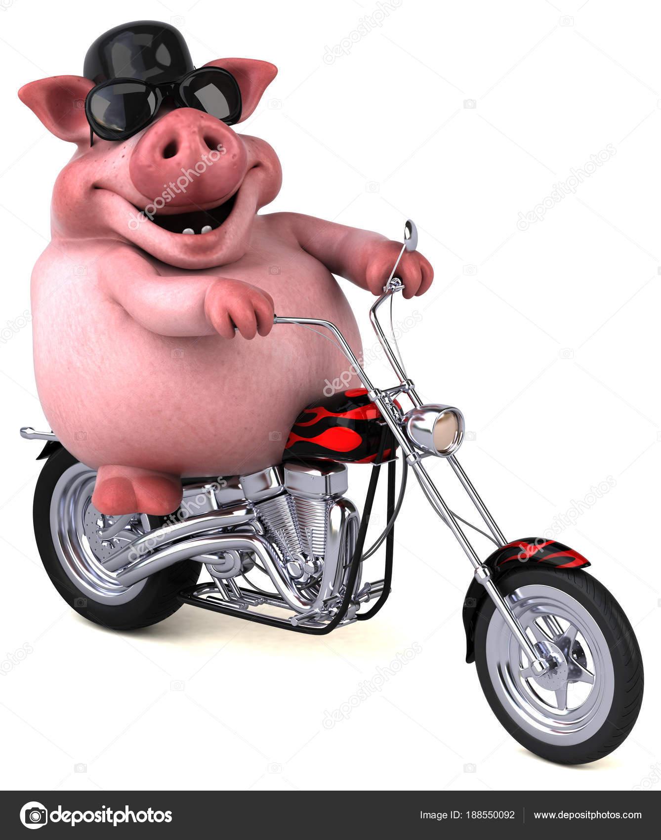 Divertente cartone animato moto illustrazione u foto stock julos