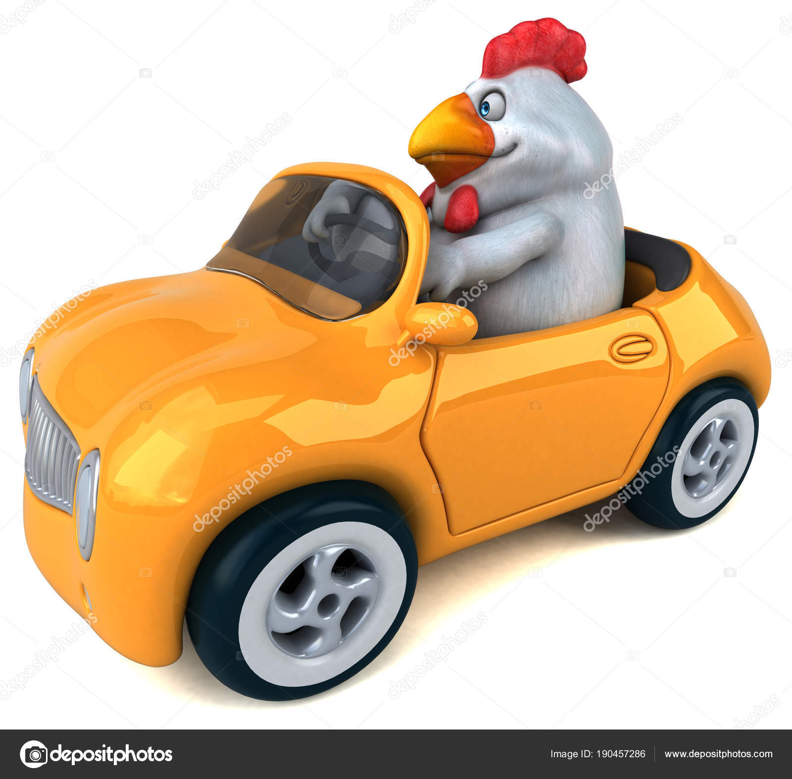 Fun Cartoon Character Car Illustration Stock Photo C Julos 190457286