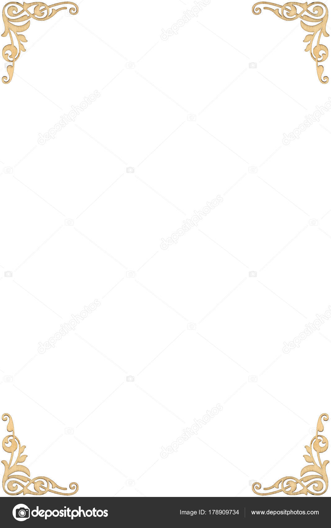 Rahmen Mit Retro Ornament Muster Im Barock Stil Dekor Stockfoto