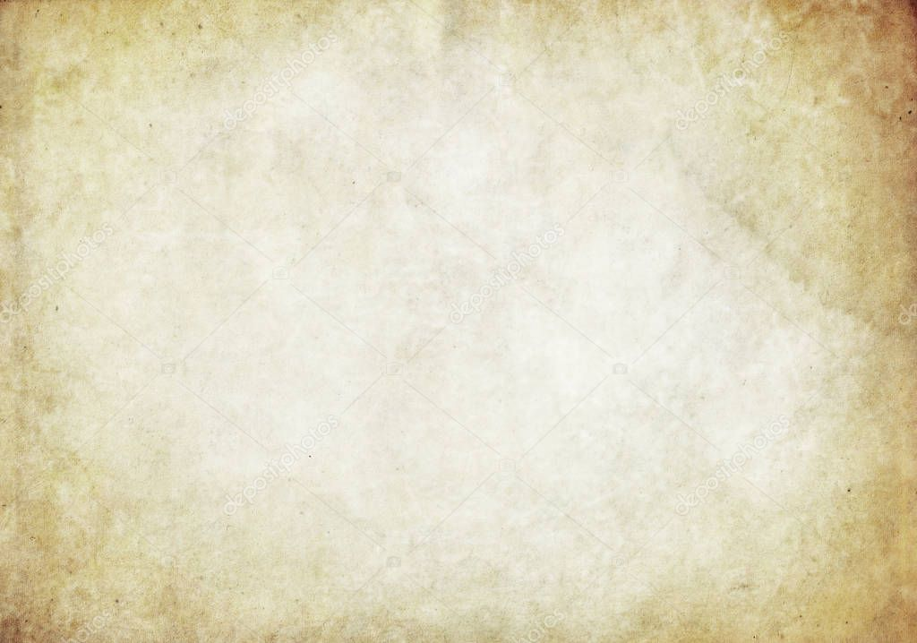 Old yellowed and stained paper texture.