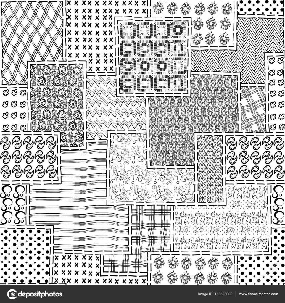 2 Patchwork Stoff Naht — Stockvektor © AnnaLug #156526020