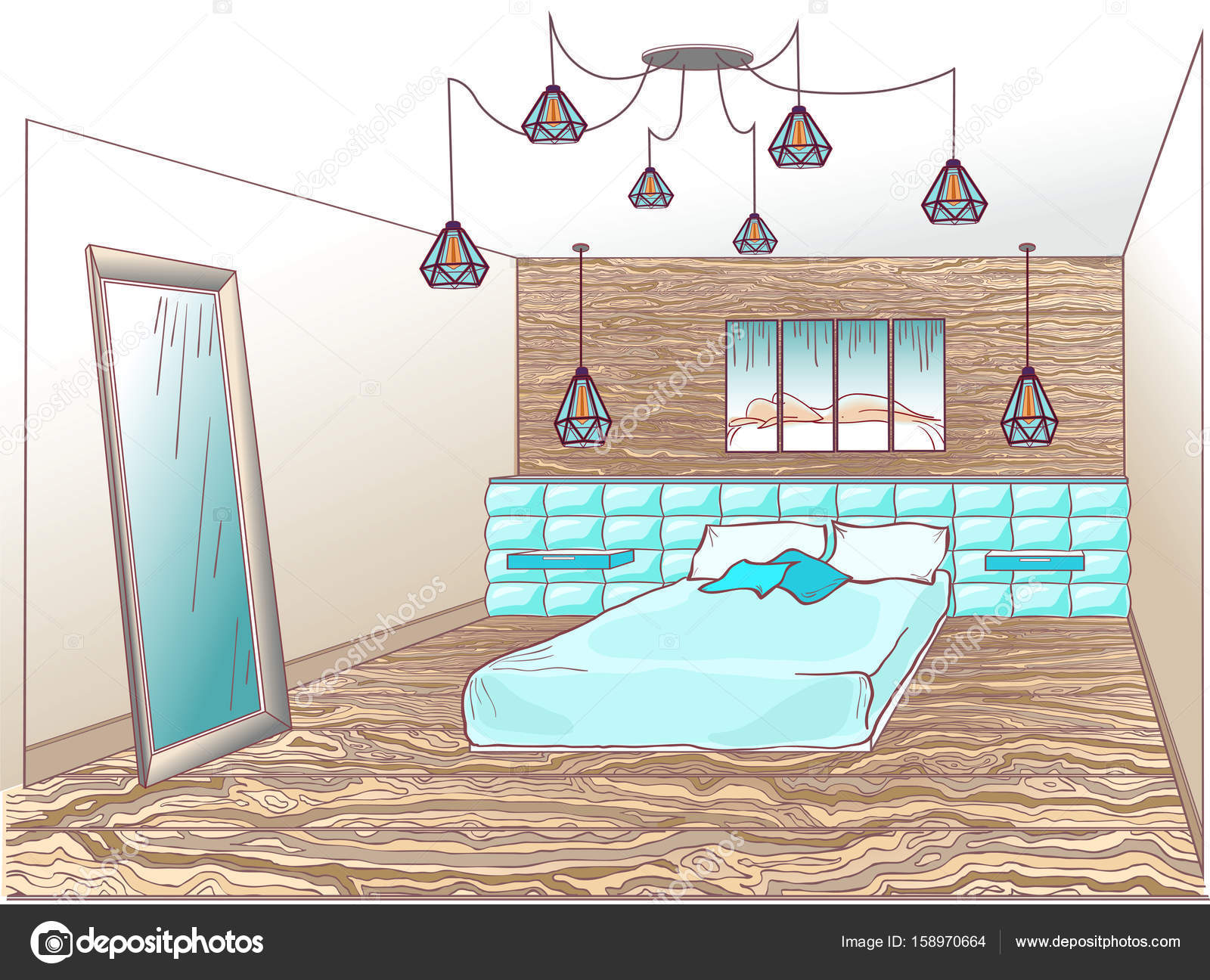 https://st3.depositphotos.com/10365226/15897/v/1600/depositphotos_158970664-stockillustratie-loft-slaapkamer-blauw.jpg