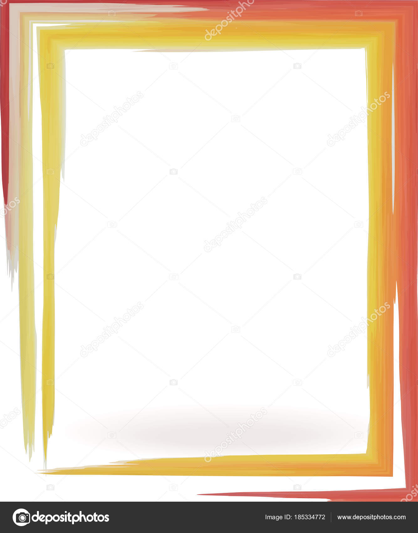 spot watercolor frame red yellow — Stock Vector © AnnaLug #185334772