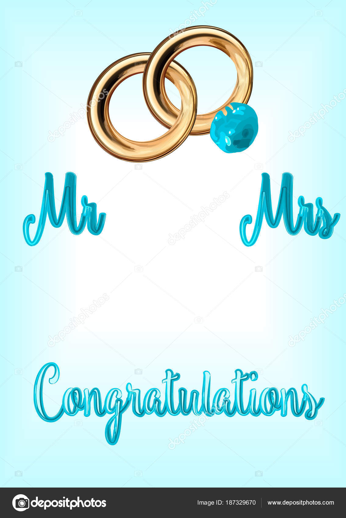 Vector Inscription Congratulations Blue Letters Blue Background