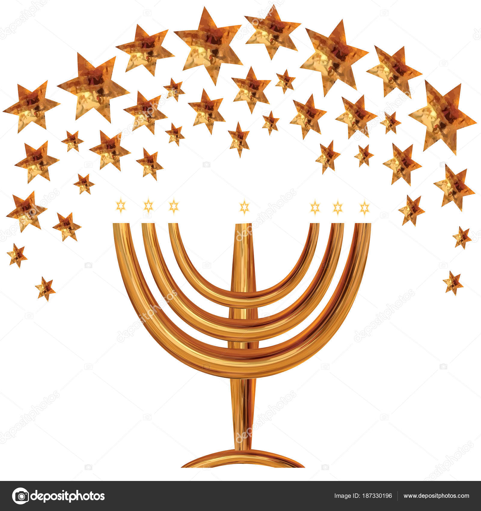 Greeting card invitation traditional jewish wedding richly decorated a greeting card and an invitation to a traditional jewish wedding in a richly decorated gold hupa from the stars of david the golden menorah m4hsunfo