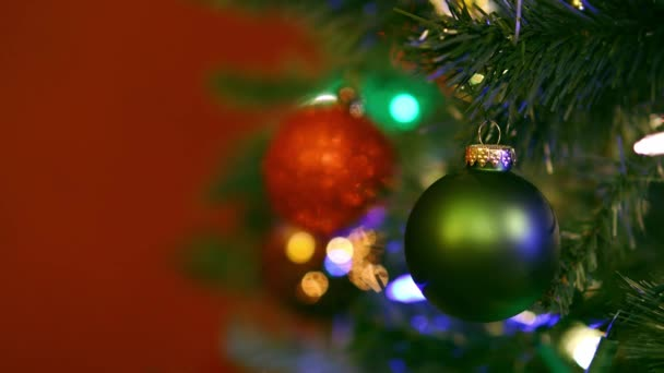 Christmas tree ornaments with colorful lights