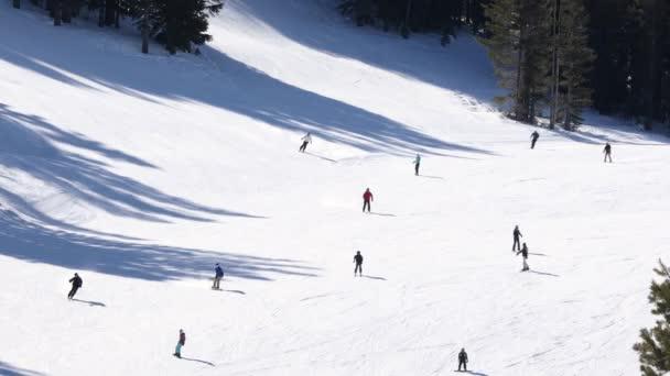 Lyžování a snowboarding v lyžařském středisku