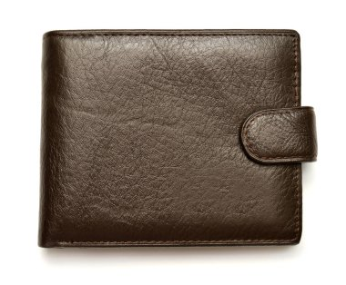 Men's leather purse isolated