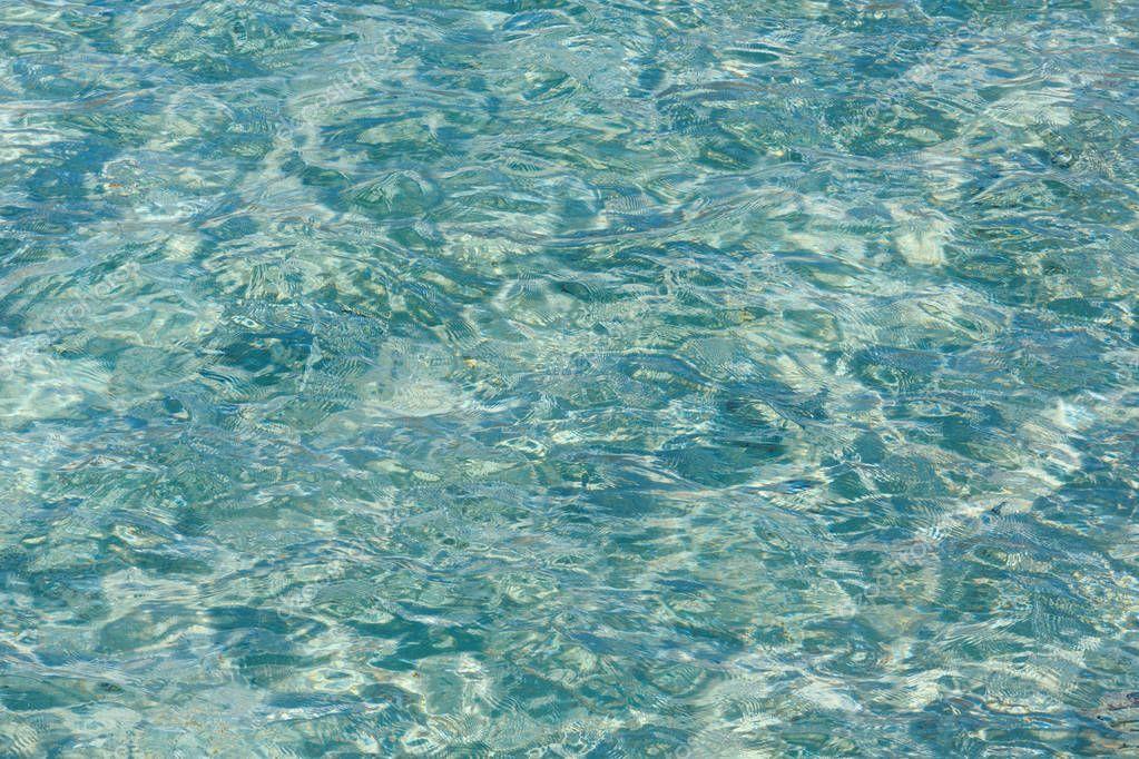 Sea flowing water surface