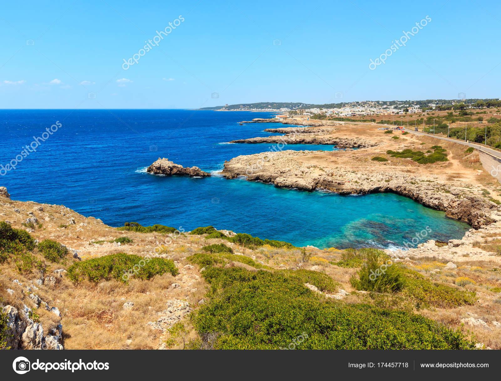 Beach Montagna Spaccata, Salento, Italy — Stock Photo © wildman ...