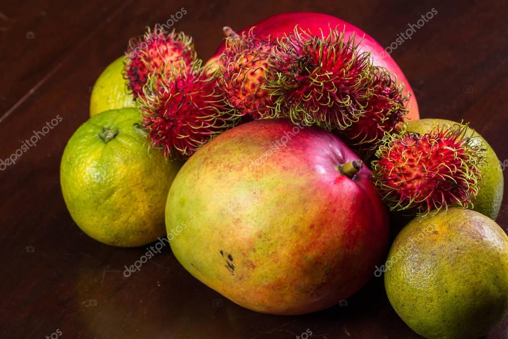 tropical fruit selection
