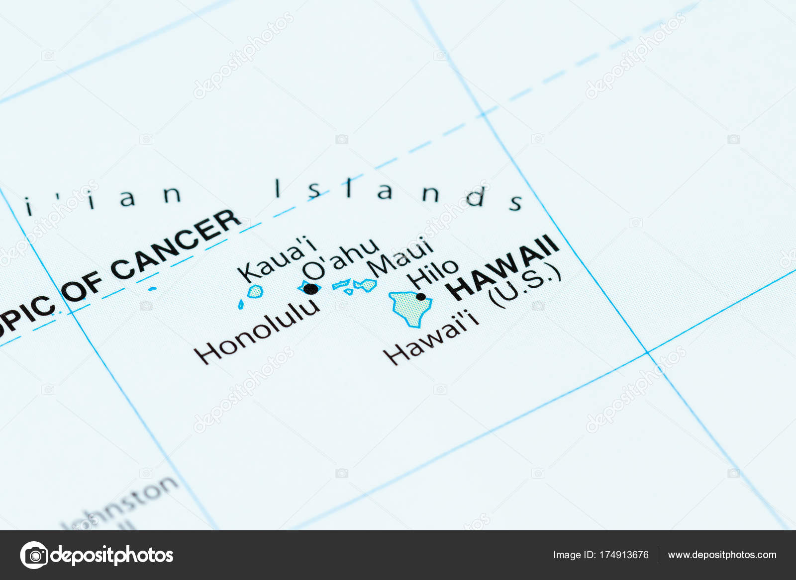Hawaii on a map — Stock Photo © wollertz #174913676
