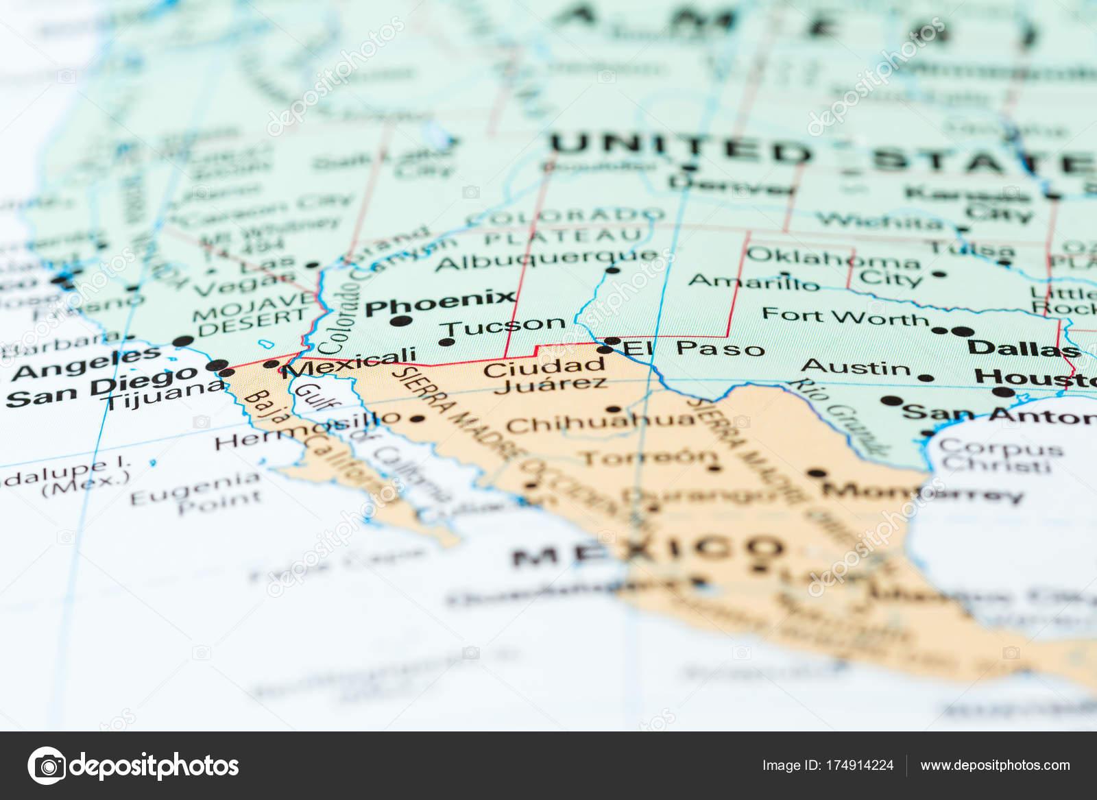 The Mexico USA border — Stock Photo © wollertz #174914224
