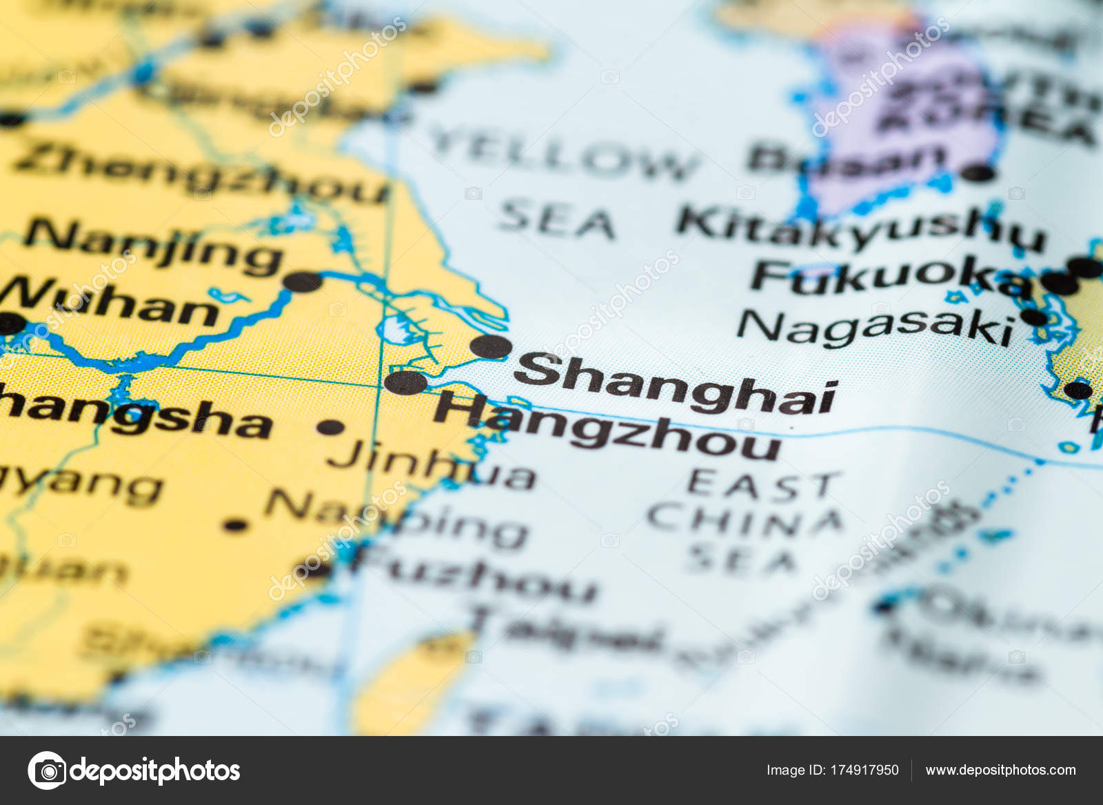 Shanghai on a map — Stock Photo © wollertz #174917950