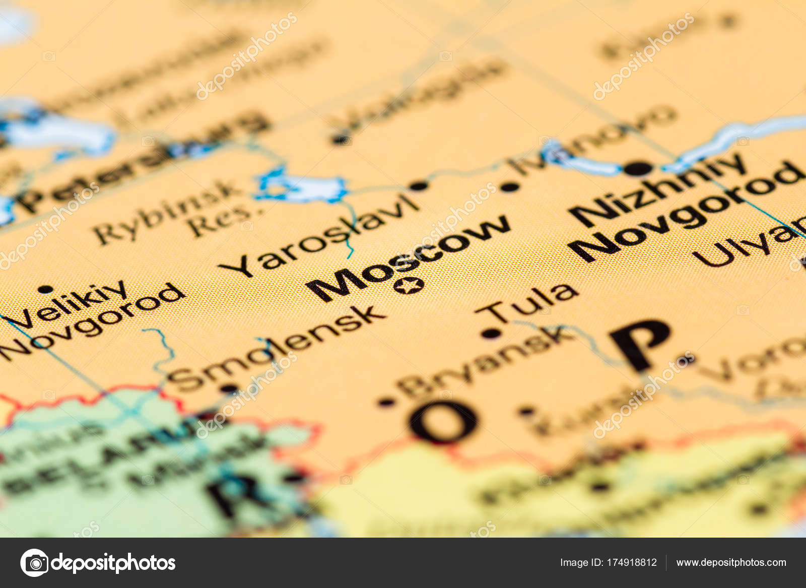 Moscow Russia On A Map Stock Photo C Wollertz 174918812