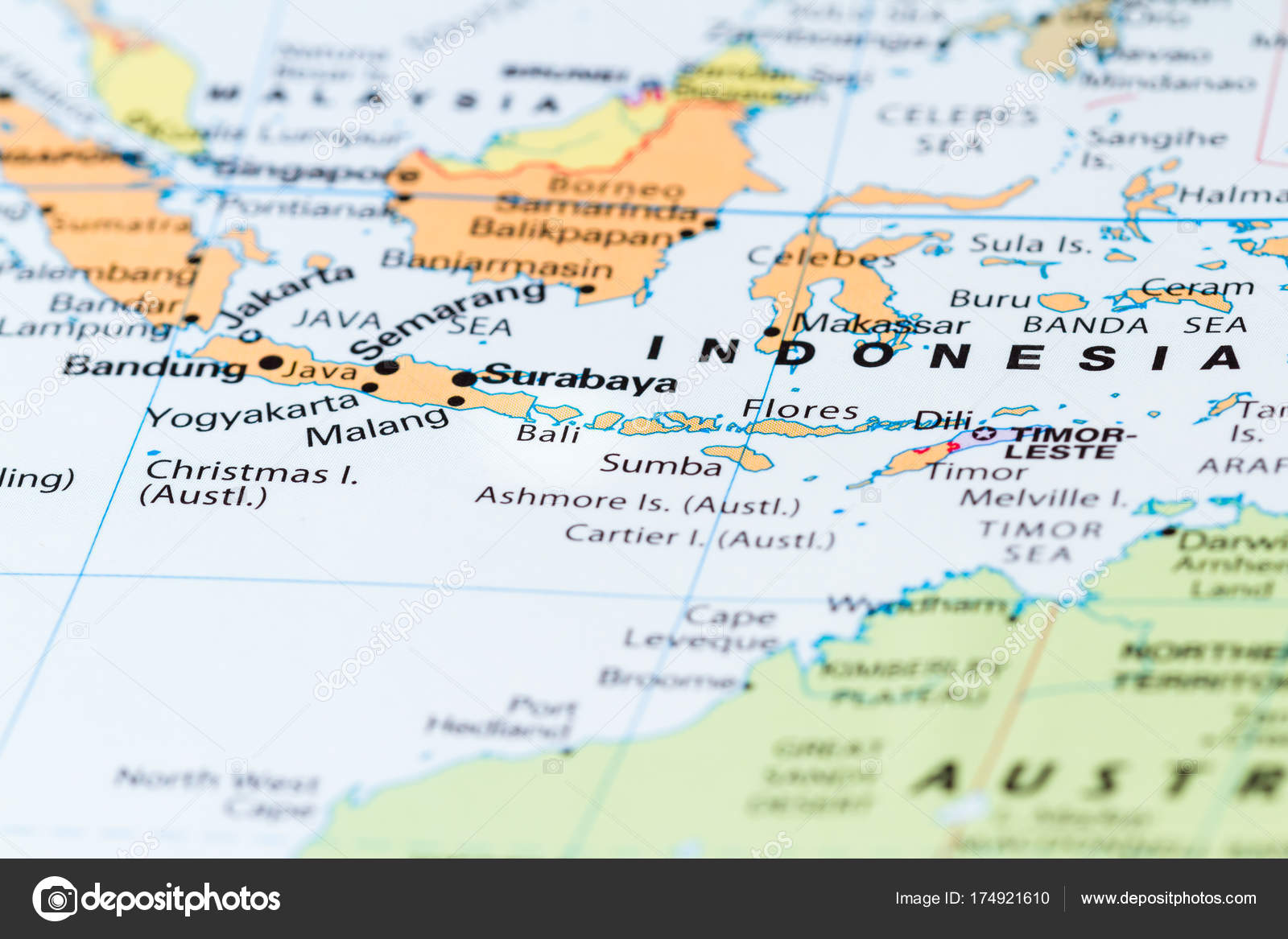 Bali on a map stock photo wollertz 174921610 close up of bali and other south pacific islands on a world map photo by wollertz gumiabroncs Choice Image