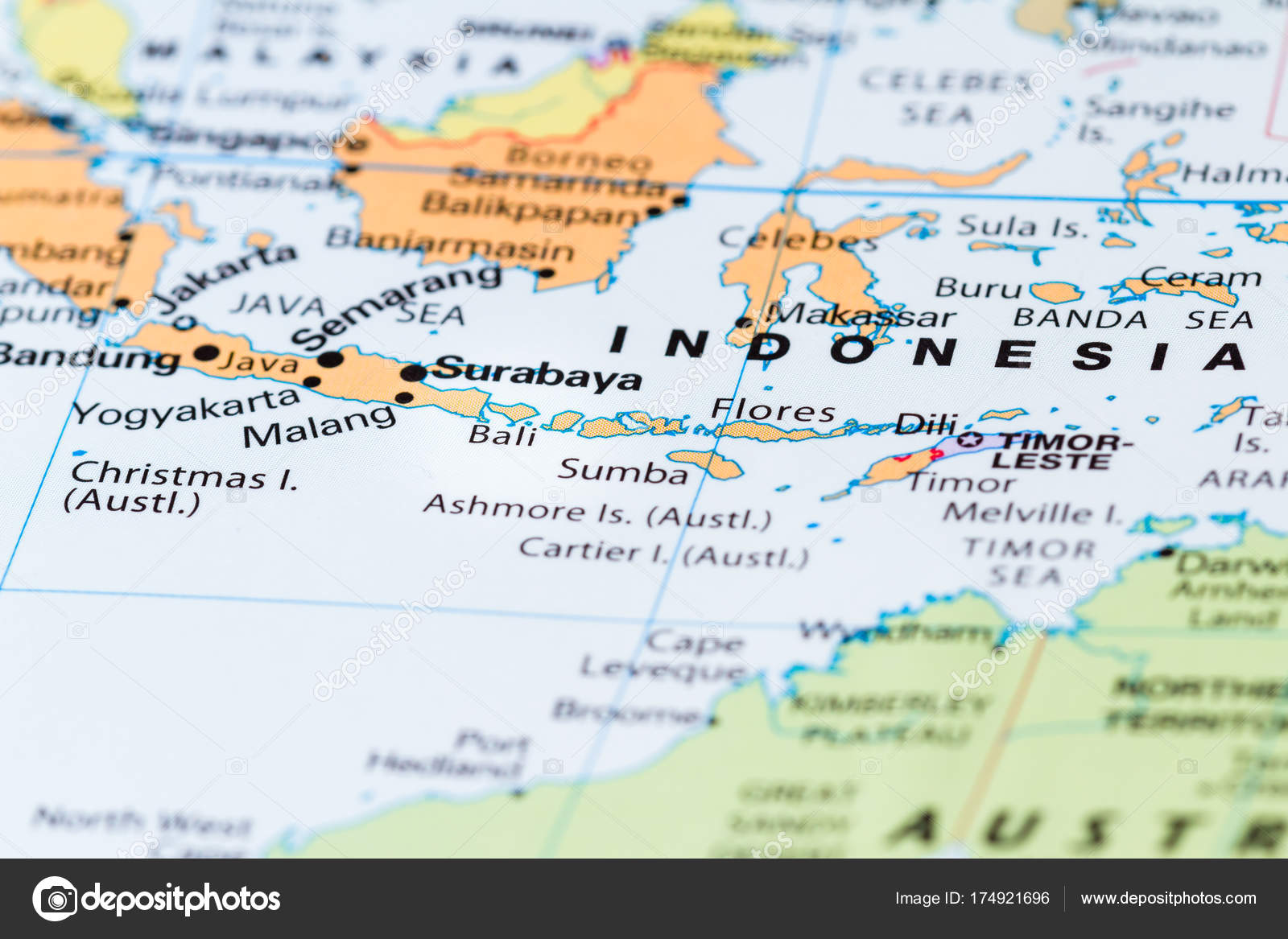 Bali on a map stock photo wollertz 174921696 close up of bali and other south pacific islands on a world map photo by wollertz gumiabroncs Images