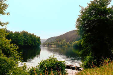 Beautiful summer landscape with river .