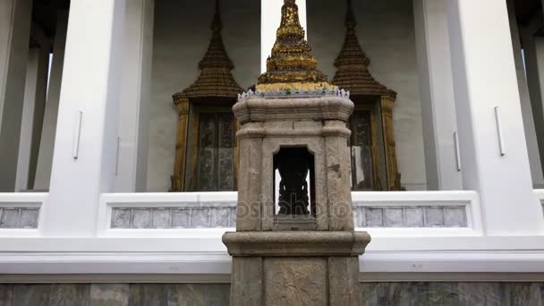 Wat Pho, Bangkok (fekvő Buddha temploma). Billenő lövés, Thaiföld, 4 k-felvétel