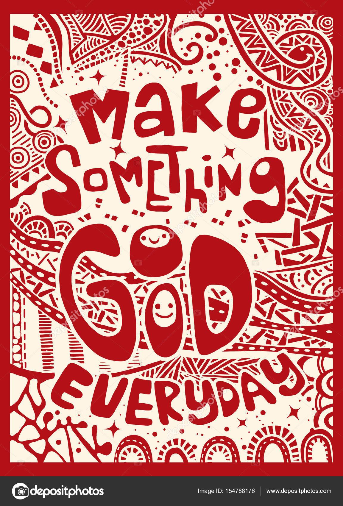 Machen Sie Etwas Gutes Alltägliche Inspirierende Angebot Hand