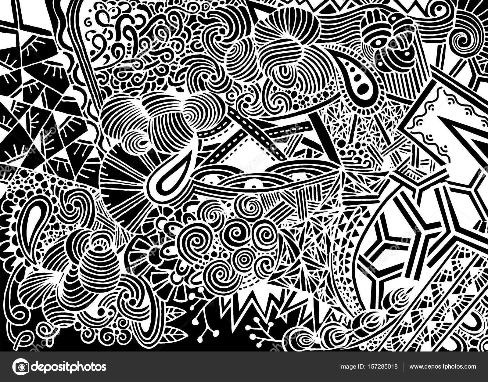 Süße Monster. Handgezeichnete Monster Gruppe Abbildung ...