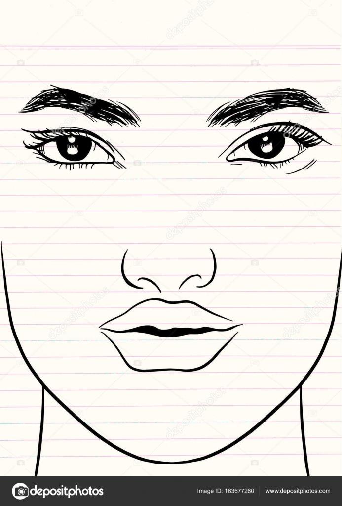 Dibujos Y Pinturas De Rostros De Mujeres Resumen El Rostro De La