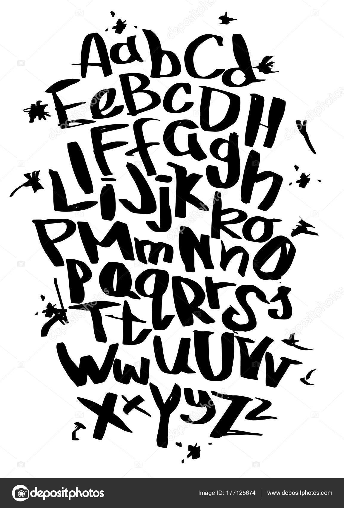 Hand lettering sketch font vector alphabet stock vector 9george hand lettering sketch font vector alphabet stock vector altavistaventures Choice Image