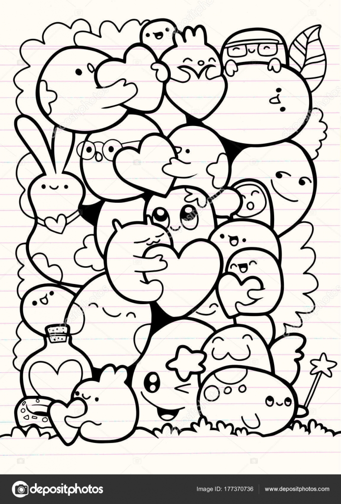 Monstruos divertidos, patrón lindo monstruo para colorear libro ...