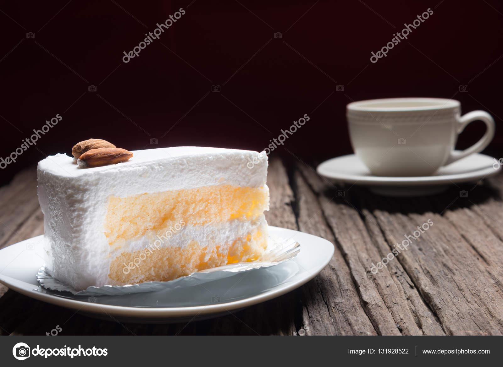 Gateau a la vanillenappage chocolat