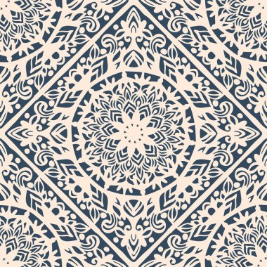Seamless pattern with decorative circles