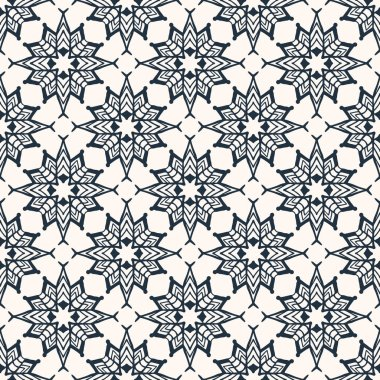 pattern with stylized flowers
