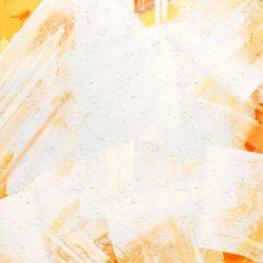 White and orange grunge background