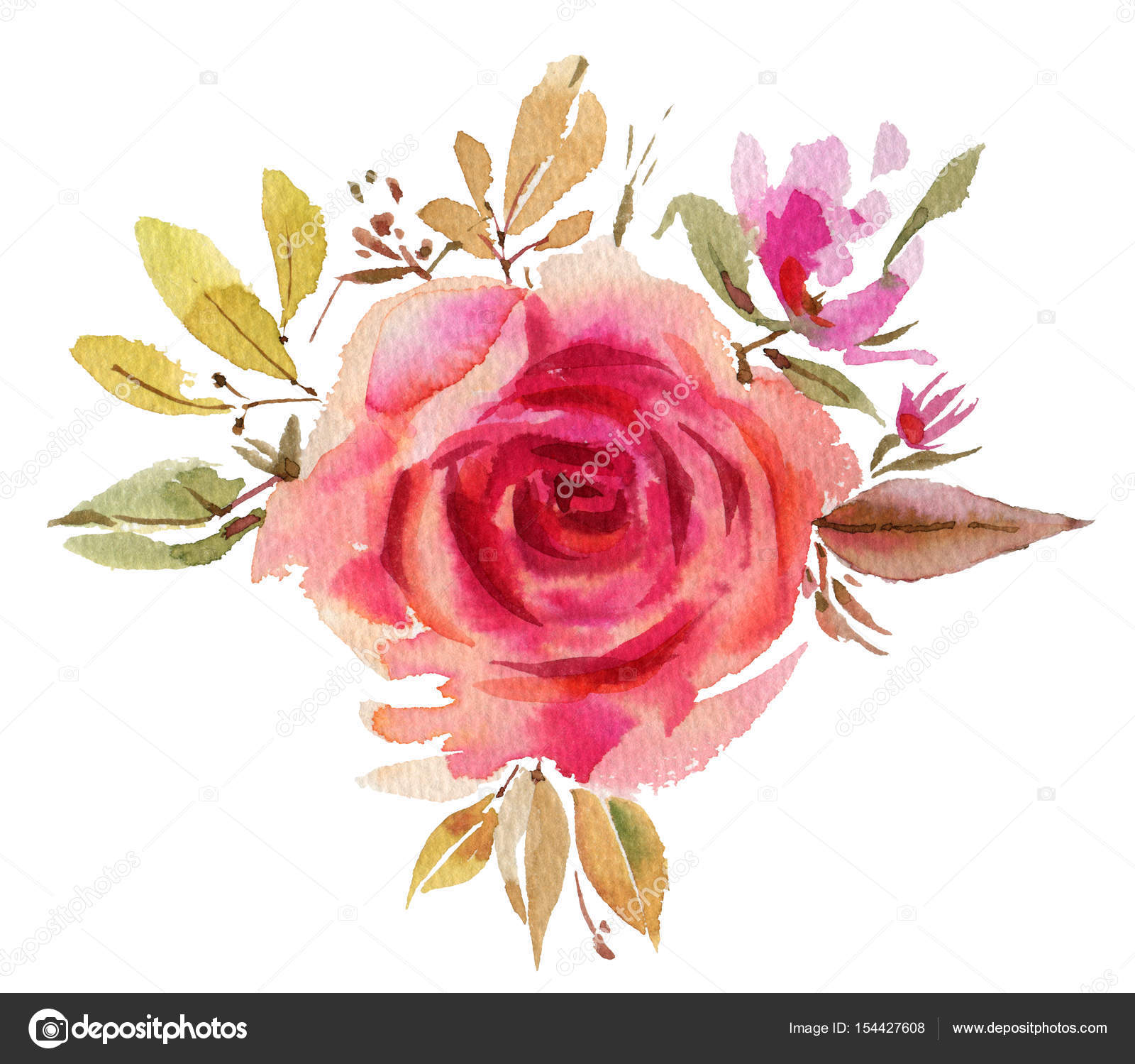 Watercolor flowers. Roses — Stock Photo © tiff20 #154427608