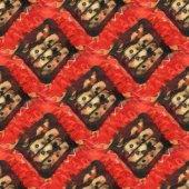 Red batik pattern