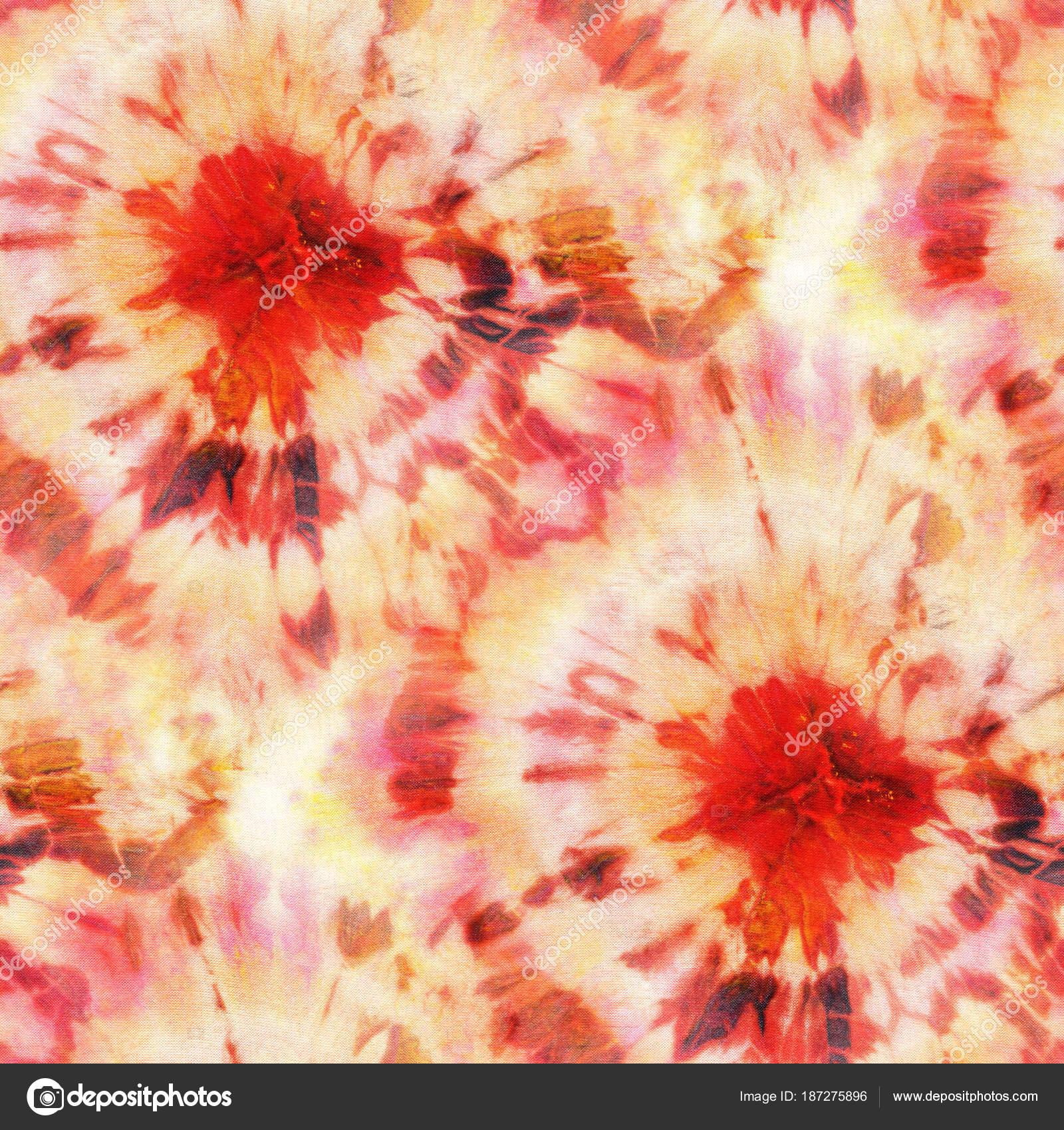 6d2a5ecd549f Seamless Tie Dye Pattern Orange Color White Silk Hand Painting — Stock Photo