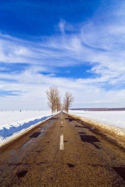"Картина, постер, плакат, фотообои ""зимний пейзаж с дорогой в румынии "", артикул 138188788"