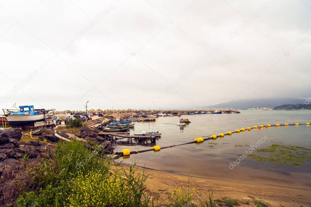 Landscape with an old fishing port in Bulgaria