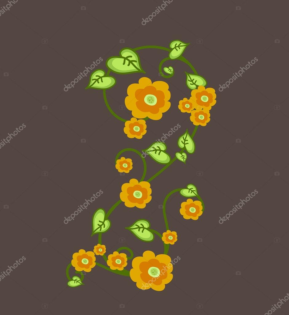 Vintage Flowers Element Vector