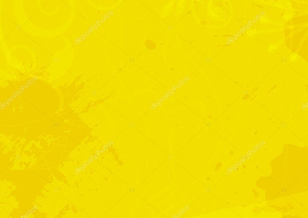 Grunge Drops Bright Yellow Background