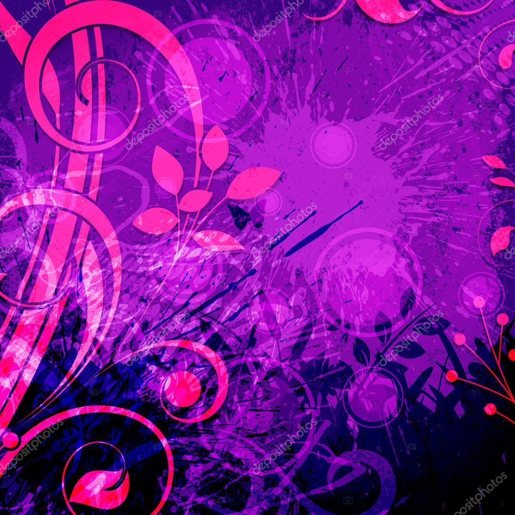 Grunge Flourish Abstract Background