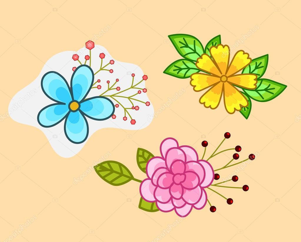 Dise os de flores decorativas vector de stock baavli - Fotos decorativas ...