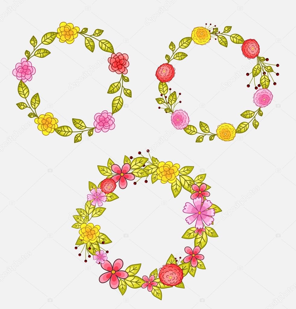 Flower Wreath Design